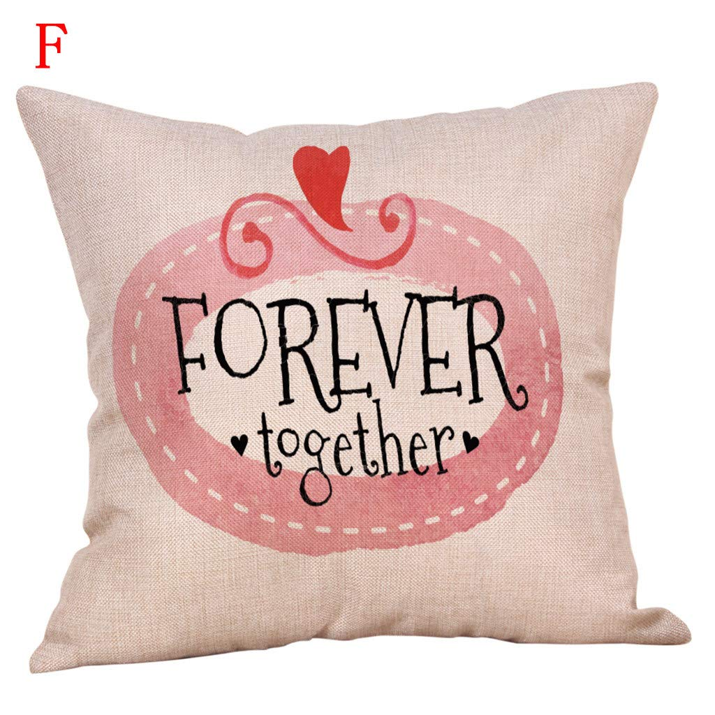 Amazon.com: Lywey 2019 Fashion Happy Valentines Day Throw Pillow Case Sweet Love Square Cushion Cover: Beauty