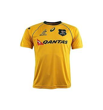 527340f4da8a Maillot rugby Australie domicile 2017 2018 enfant - Asics- Or - 15-16 ans   Amazon.fr  Vêtements et accessoires