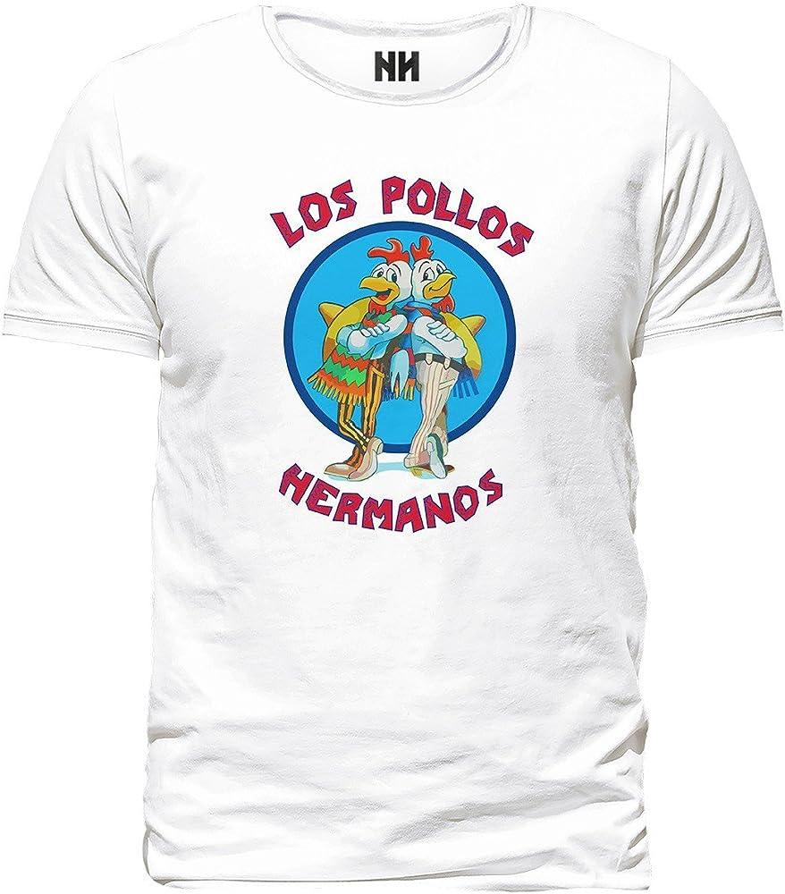 Noorhero - Camiseta de Hombre - Los Pollos Hermanos Breaking Bad: Amazon.es: Ropa y accesorios