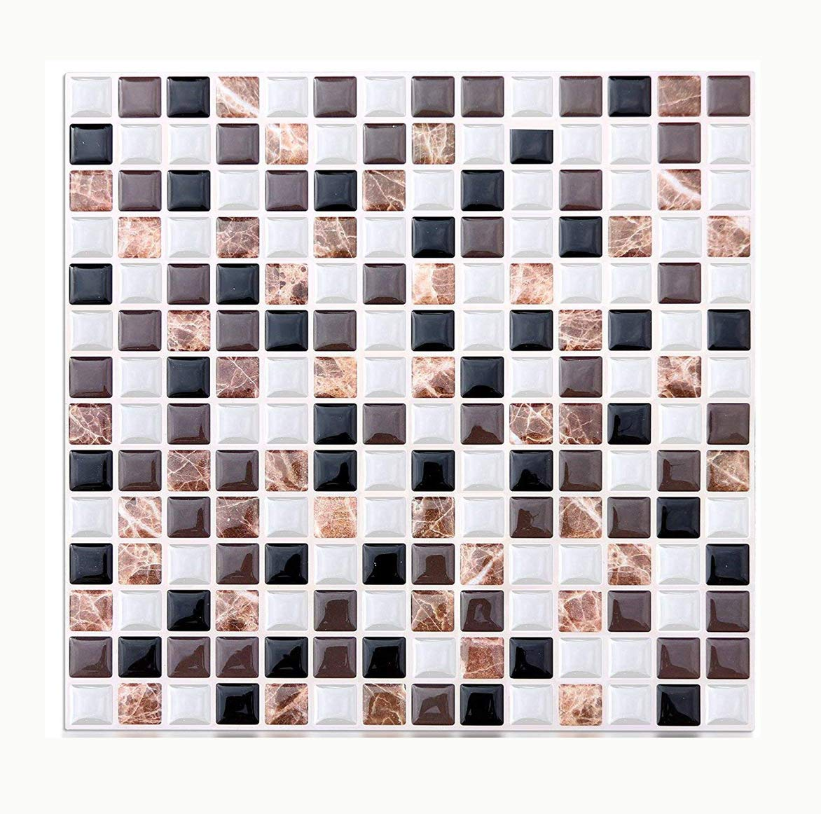 Vamos Tile Premium Anti Mold Peel and Stick Tile Backsplash, Self Adhesive Wall Tiles for Kitchen & Bathroom-10 x 9 (6 Sheets)