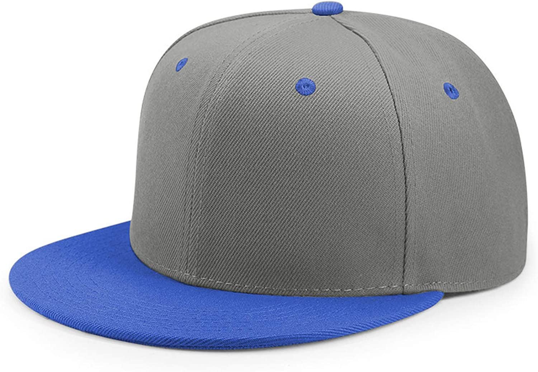 Hip Hop Flat Peaked Cap Adult Solid Color Patched Baseball Hat Women and Men Logo Custom Plain Cap