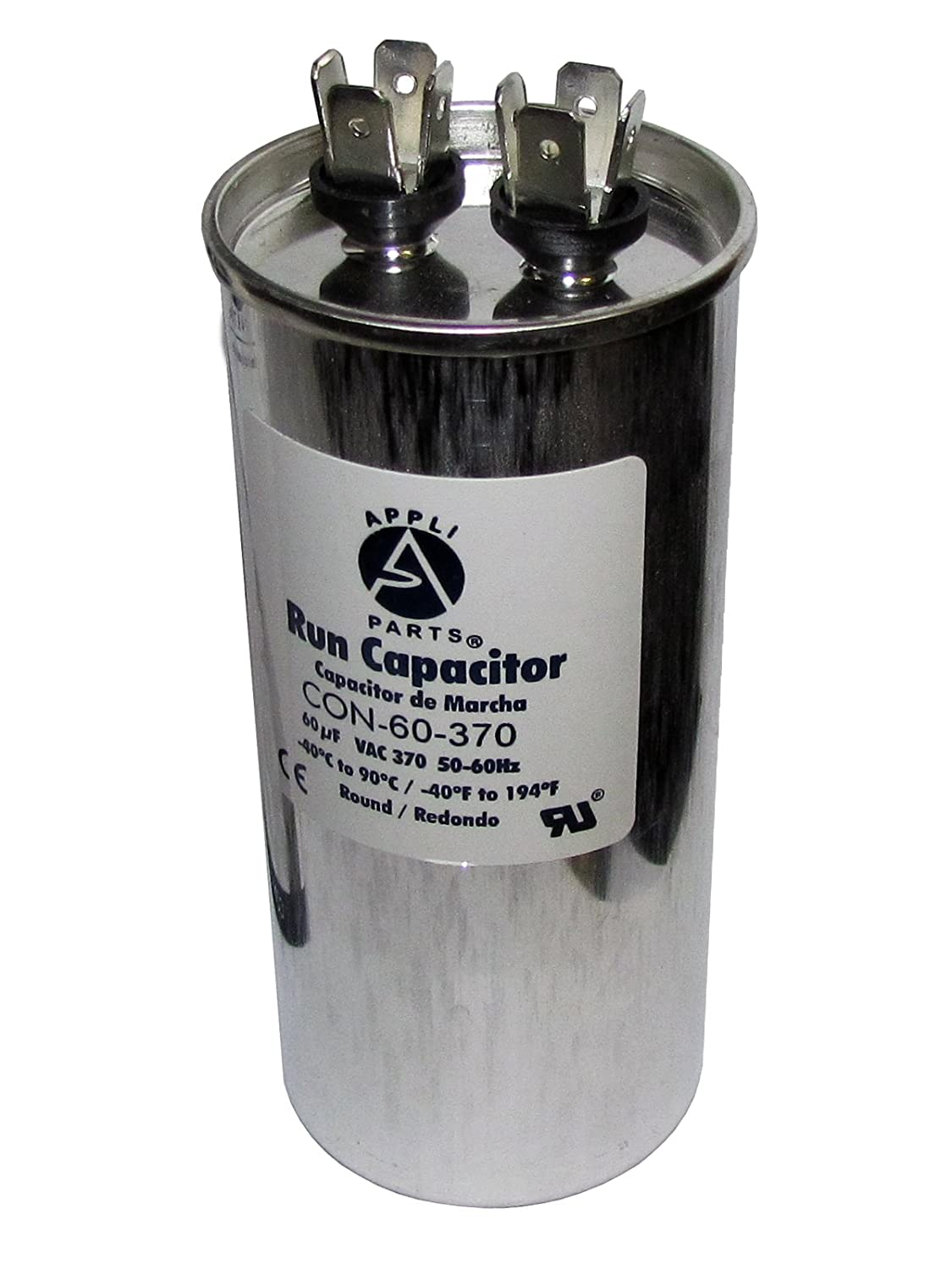 UL Certified RC-50F RUN CAPACITOR 50 MFD 370 VAC ROUND CAN