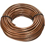 One Stop Outdoor 1/4-Inch x 100-Feet Irrigation/Hydroponics Dripline with 6-Inch Emitter Spacing (Brown)