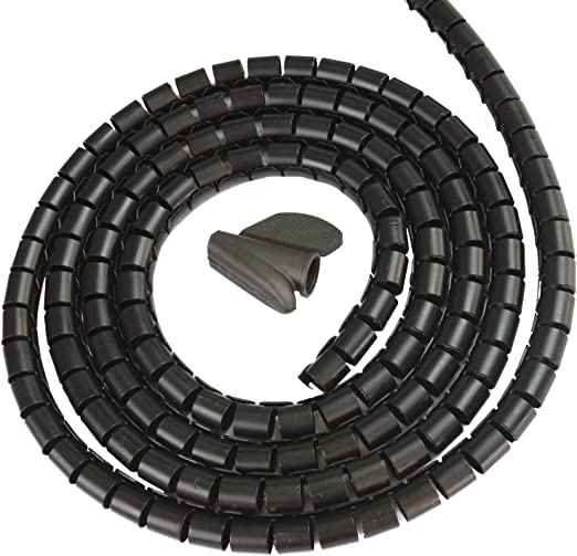 SCB10B3 3-meter Reusable Spiral Cable Wrap Binding Cable Tidy /ø10 to /ø15 mm x 3m Black