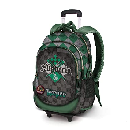 Karactermania Harry Potter Quidditch Slytherin-Mochila Running HS con Carro Mochila Tipo Casual, 53