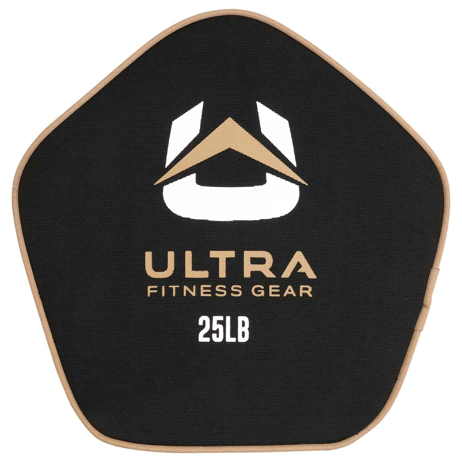 Ultra Fitness Gear Super Tough Fillable Neoprene Pancake Sandbag for Full Body Workouts (Unfilled), 10-50lbs.