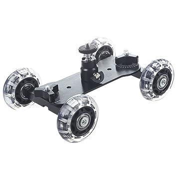 Mover el tripode - TOOGOO(R) Dolly Skater de Mesa Compacta de Tripode Con mini Rotula Carro de Camara para Canon Nikon Sony Camaras Reflex Digitales Dslr ...