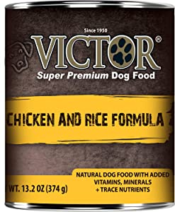 Victor Chicken and Rice Canned Dog Food 13.2oz 12 Case