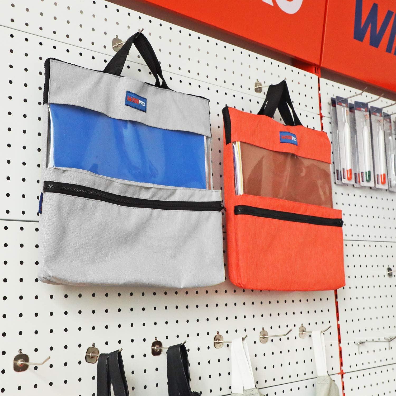 WISEPRO Craft Vinyl Organizer Bag with Handle and Zipper Craft Weeding Tools Bag 14 x 14 Inch