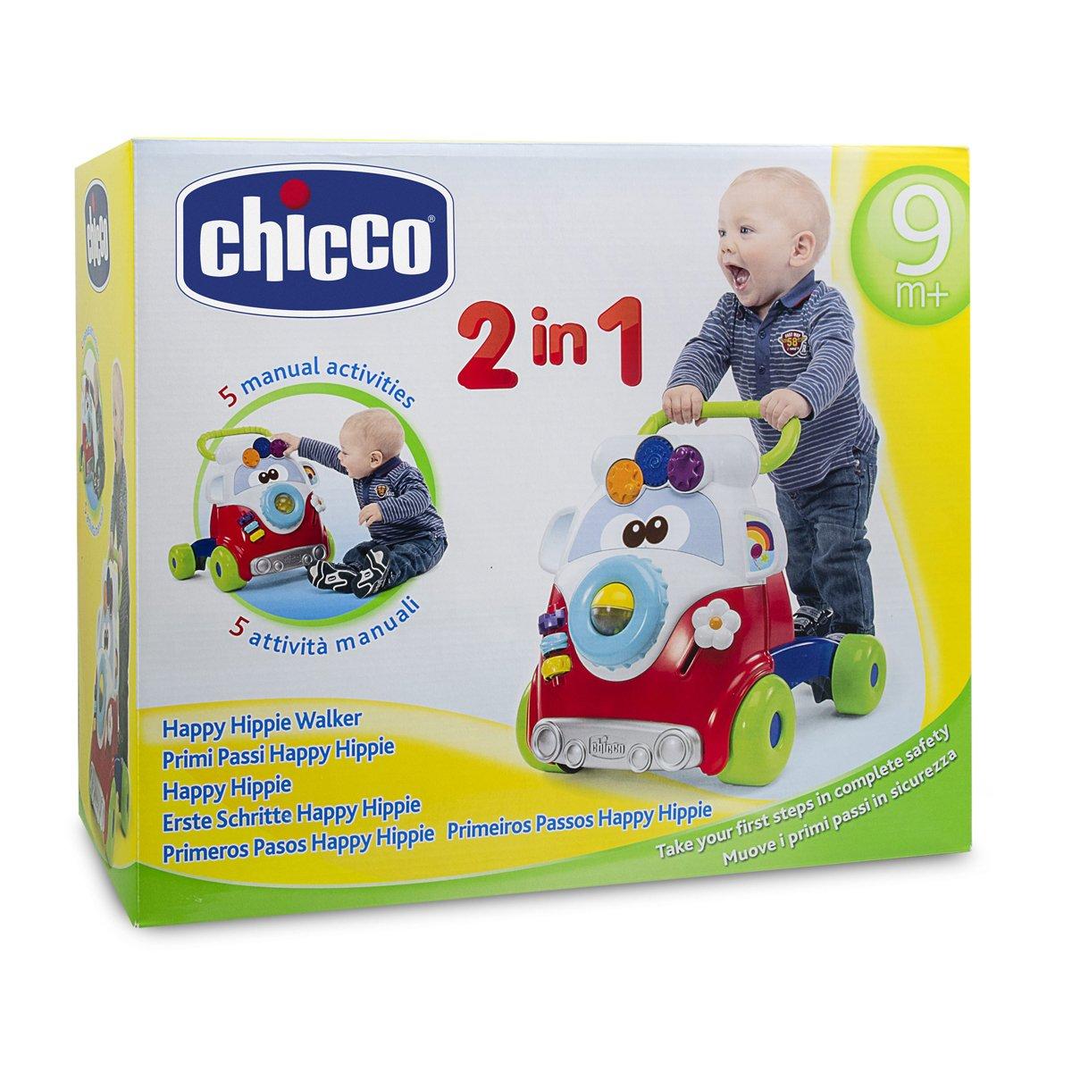 Chicco Happy Hippy - Andador Primeros Pasos con Actividades manuales, Divertido diseño Hippy