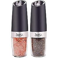 Zeesa Electric Salt and Pepper Grinder Set