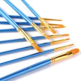 GWHOLE 10 Pieces Round Pointed Tip Paint Brush Set