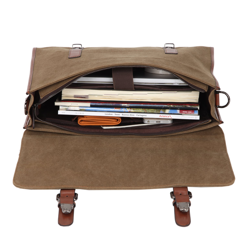 Banuce 13.3 inch Laptop Messenger Bag for Men Vintage Canvas Tote Briefcase Satchel Shoulder Bag by Banuce (Image #6)