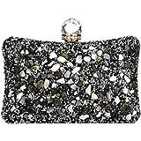 Women Elegant Rhinestone Evening Bags Glitter Vintage Bridal Clutch Purse Wedding Prom Party Handbag