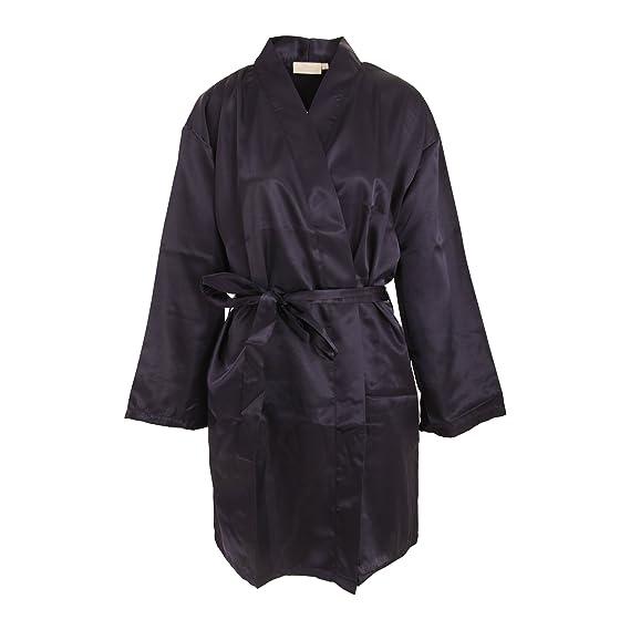 Forever Dreaming - Bata de estar por casa kimono liso para mujer (Mediana (M