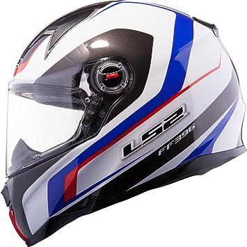 LS2 FF396, 52 FT2 Forza cara completa casco de moto R White Blue Red Talla