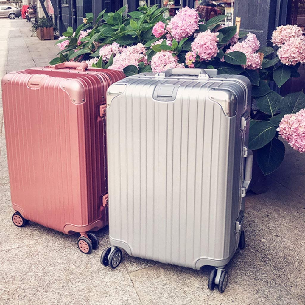 Color : Dark Green, Size : 22 inches55.53825CM HUANGDA Suitcase Trolley Case Universal Wheel Net Red Suitcase 20 Student Female 26 Password Box 24 Leather Box 22 Inch