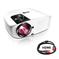 Artlii Videoprojecteur Full HD, Projecteur HD Portable, Supporte Le 1080p, 3D, Compatible Clé USB, iPhone, PC, Laptop Regarder Football, NBA, Roland Garros