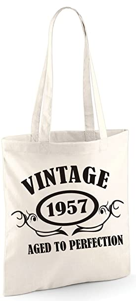 8b35fabab38 Edward Sinclair Vintage 1957 Aged to Perfection Tote Bag - with A Black  Print Shoulder Bag  Amazon.co.uk  Clothing