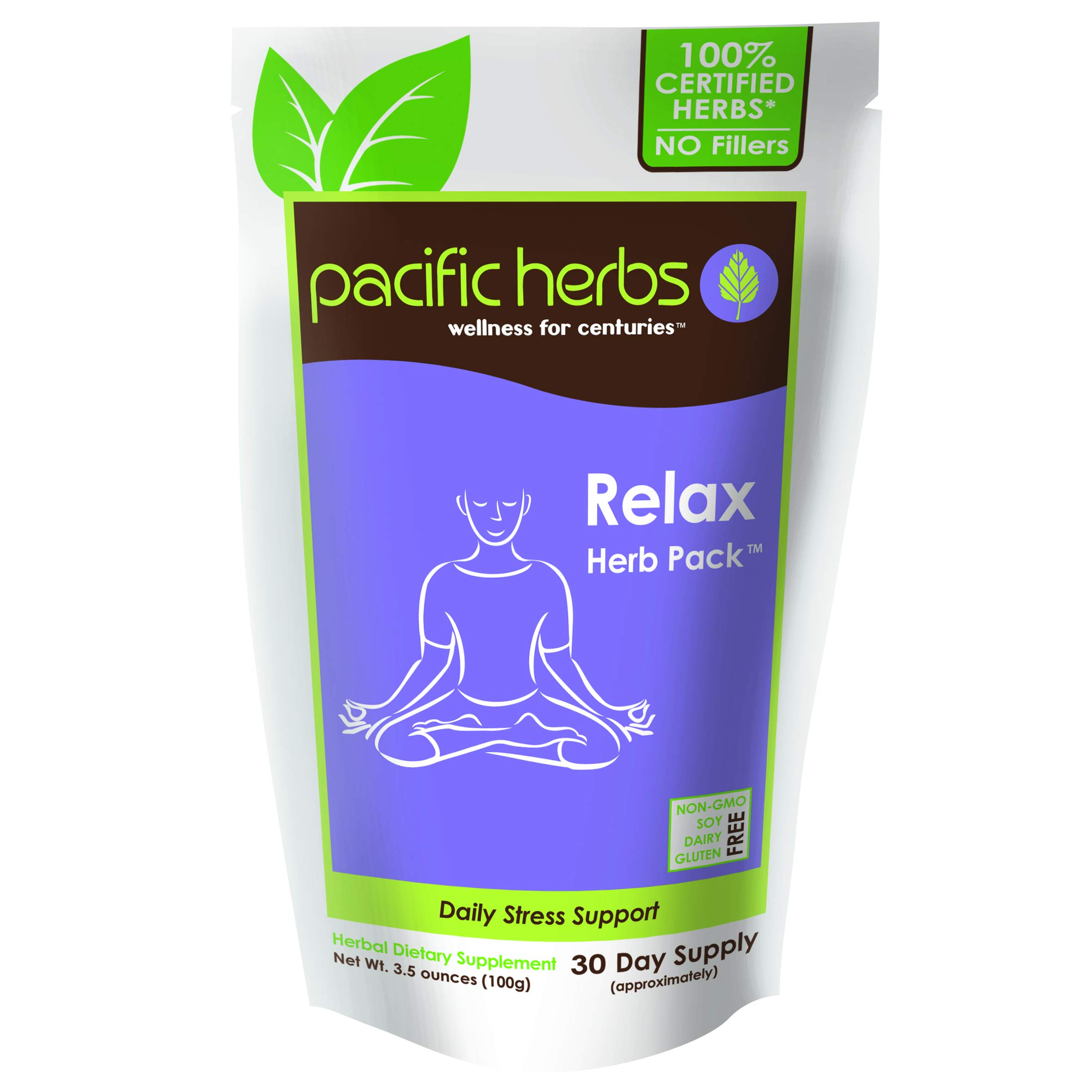 Pacific Herbs Natural Stress Relief Herbal Extract