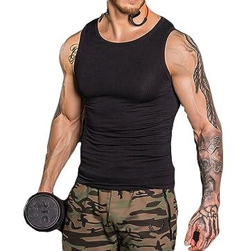a3fa476a4d Gueuusu Men s Slimming Body Shaper Compression Shirt