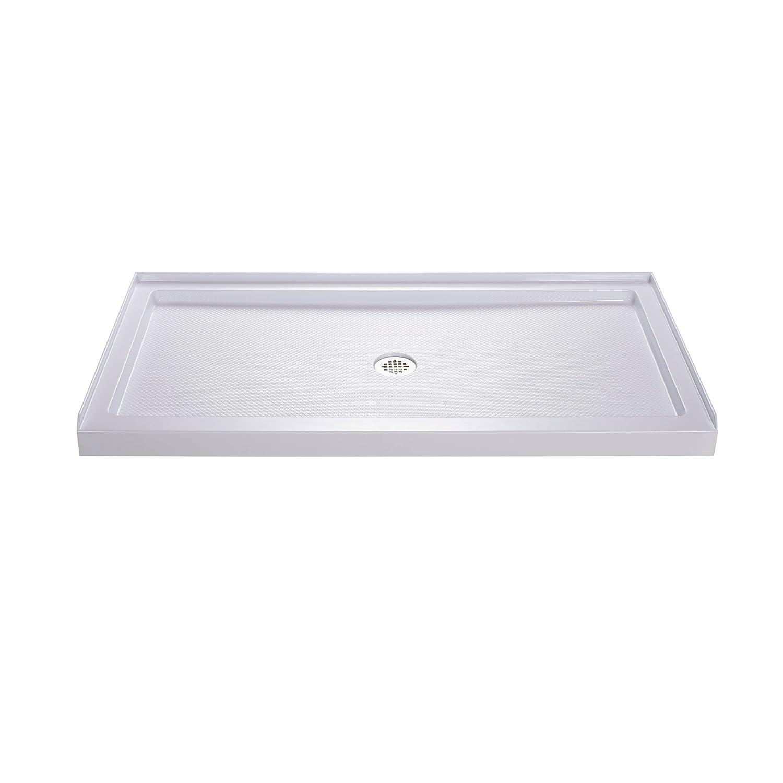 """DreamLine DLT-1136540 Shower Base, 54"""" W x 36"""" D, White"""