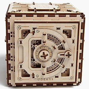 Model Safe Kit   3D Wooden Puzzle   DIY Mechanical Safe