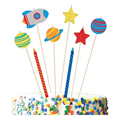 Out of This World Novelty Birthday Candles - 8 pcs: Toys & Games