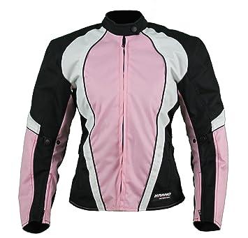 KT007 chaqueta moto textil Mujer Cintré rosa Karno Typhoon ...