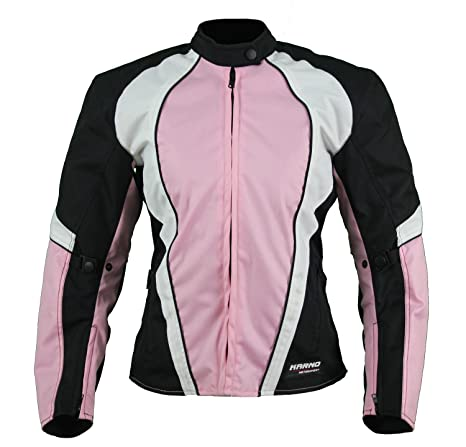 KT007 chaqueta moto textil Mujer Cintré rosa Karno Typhoon – Forro Invierno