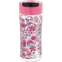 Fit & Fresh Kids' Reusable Water Bottle, Made of BPA Free Tritan Plastic with Leakproof Flip-up Cap and Carry Handle, 16 ounces, Cool Spring Showers