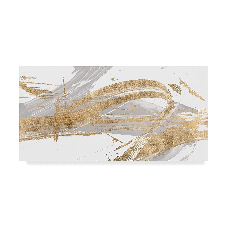 10x19 Trademark Fine Art gold and Grey II by Studio W, 10x19