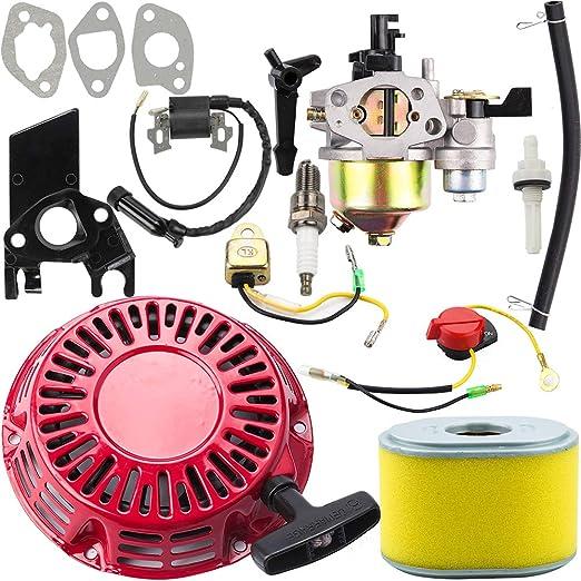 Amazon.com: Dalom GX160 Carburador + Arrancador de Recoil + ...