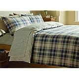 Catherine Lansfield Tartan Double Bed Duvet Set - Navy