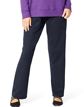 666403bb35f8f Just My Size JMS Women s EcoSmart Fleece Open-Hem Sweatpant at Amazon  Women s Clothing store