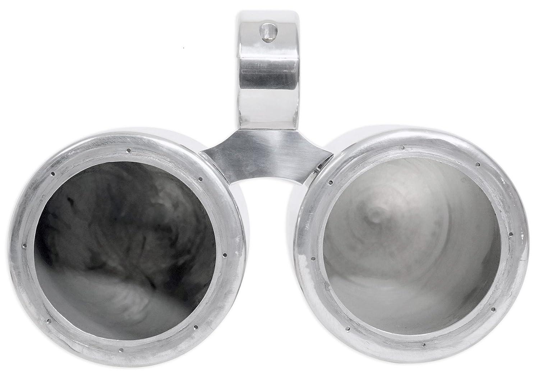 Pair Rockville 6.5 Polished Silver Aluminum Wakeboard Tower Speaker Enclosures