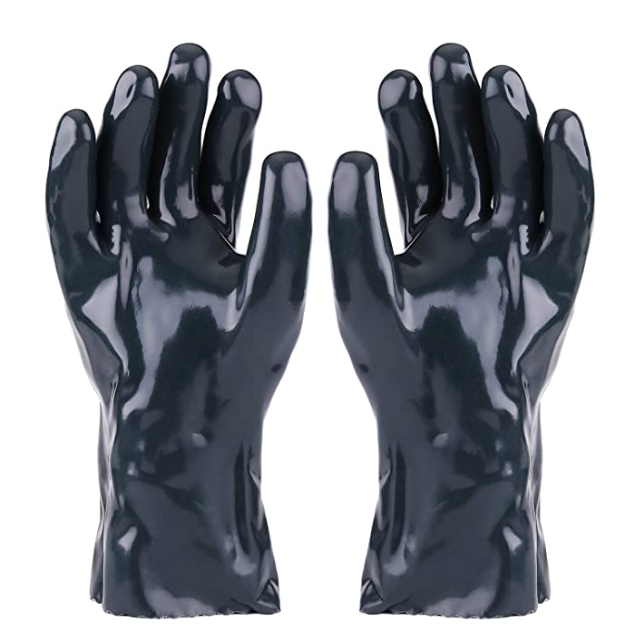 Flexzion BBQ Gloves Hot Food Gloves (1 Pair) - Griller Insulated Heat-Resistant Neoprene Durable and Reusable FDA Approved for Handling Hot Food Right Off BBQ Grill Meat, Steak, Turkey, Pulling Pork