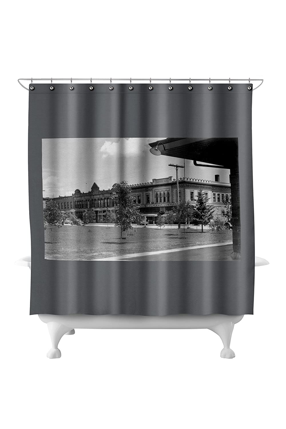 Dillion, Montana - Exterior View of the JC Penny Co (71x74 Polyester Shower Curtain)