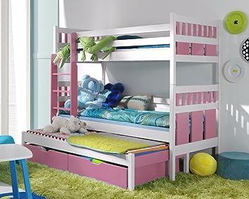 Etagenbett Liegefläche 80 180 : Massivholz kiefer etagenbett 3 liegeflächen inkl.3matratzen hochbett