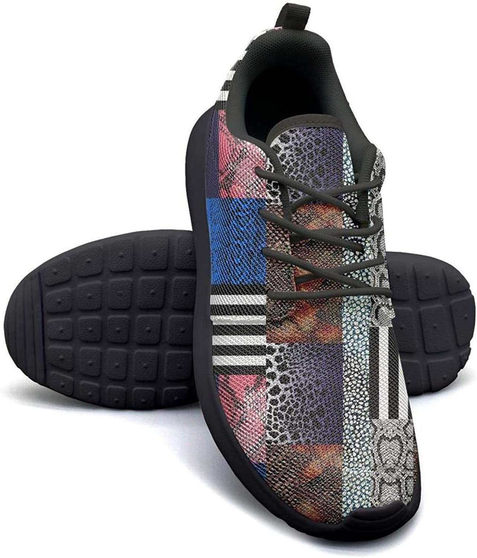 Leopard Cheetah Print Snake Skin Geometric Stitching Blue red Black Girl Skateboard Casual Shoes Print Tennis Shoes