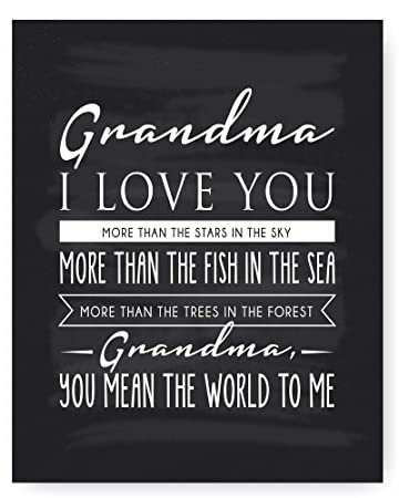 I Love You Grandma Quotes Beauteous Amazon Grandma Gift Grandma Quote Sign Grandma Chalkboard