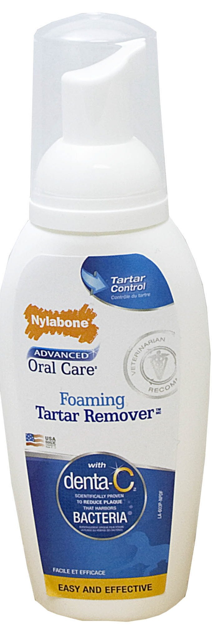 Nylabone Advanced Oral Care Foaming Tartar Remover for Dogs, 4 oz.