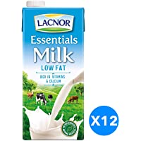 Lacnor  Essentials Milk Low Fat - Pack of 12 Pieces (12 x 1 Liter)