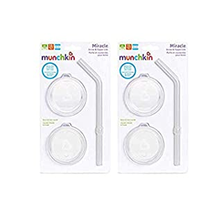 Munchkin Sippy and Straw Lids for Miracle 360 Cups, 3 Piece Set (2 Pack)