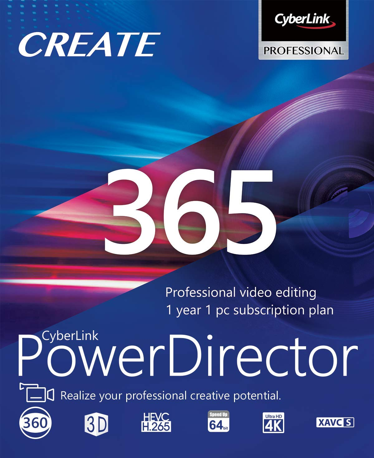 CyberLink PowerDirector 365 - 1 year subscription [PC Download] by Cyberlink