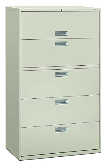 Exceptional HON 5 Drawer Filing Cabinet   600 Series Lateral Or Legal Filing Cabinet,  42w