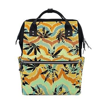 Amazon.com: mapolo Rastafari Grunge cáñamo hojas bolsa de ...