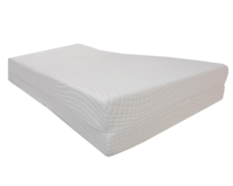 Dibapur Oxford - Colchón de espuma fría (9 zonas, ortopédico con > Funda Medicott < HR RG 60, 80 cm x 190 cm x 18 cm Con Núcleo Doble Funda, aprox.