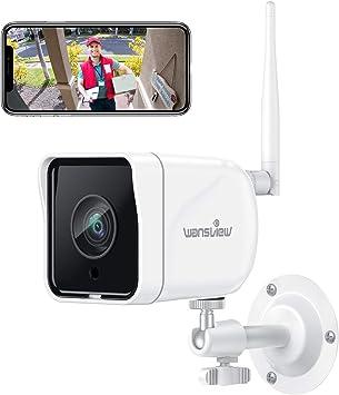 Wansview Überwachungskamera Aussen Wlan Ip Kamera 1080p Outdoor Wifi Mit Ip66 Wasserdicht Bewegungserkennung Zwei Wege Audio Sd Kartenslot Onvif Und Rtsp Funktioniert Mit Alexa W6 Weiß Baumarkt