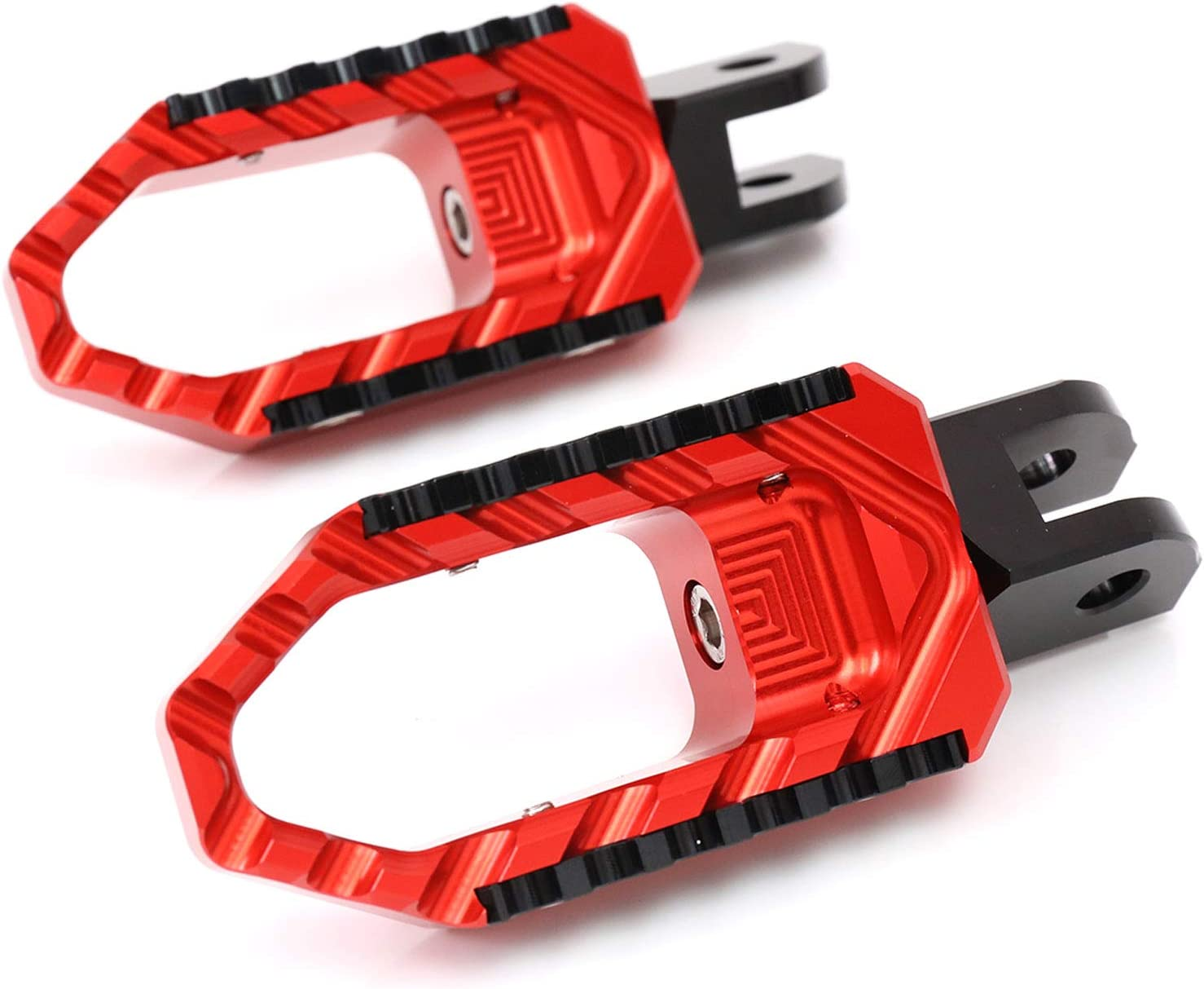 Red Model FP-FRONT-F031-BK-00MM-BK-TOUR-RD-TH-BK Autobahn88 Motorcycle Footpeg Front//Rider - Touring-Type with No-Extension
